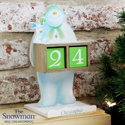 Personalised The Snowman & The Snowdog Perpetual Advent Calendar